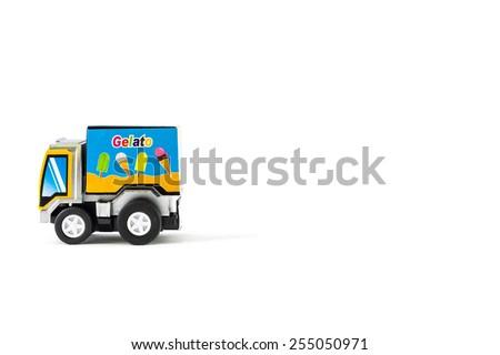 "Toys ice cream truck. ""Gelato"" Italian Ice Cream - stock photo"