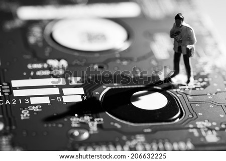 Toys simulated scientific research - stock photo