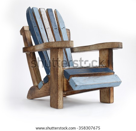 Toys Wooden Chair On White Background