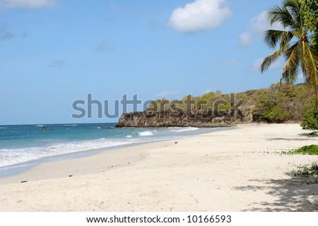 Trabaud beach, Martinique, Caribbean - stock photo