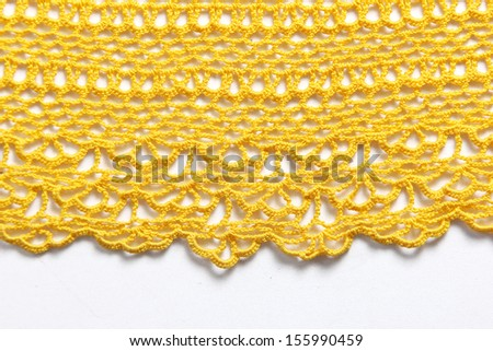 Trace and texture of knitwear - stock photo