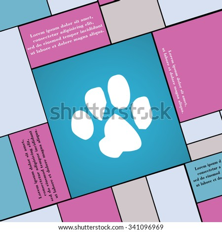 trace dogs icon sign. Modern flat style for your design. illustration - stock photo