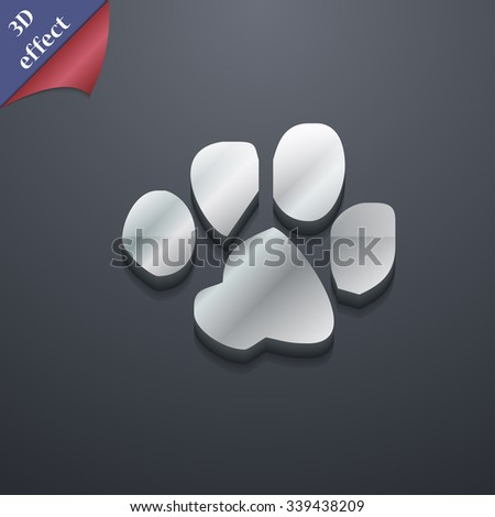 trace dogs icon symbol. 3D style. Trendy, modern design with space for your text illustration. Rastrized copy - stock photo
