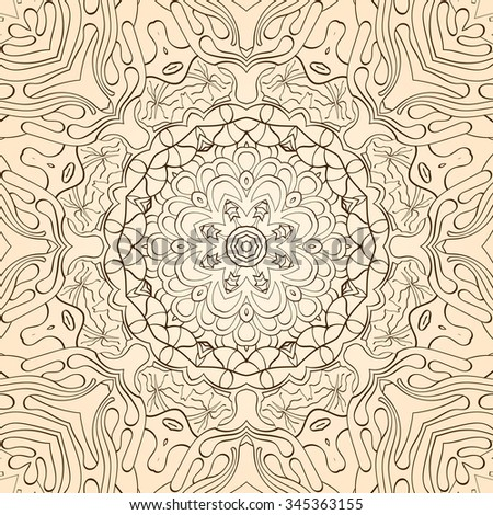 Tracery binary pattern. Mehendi carpet design. Neat even harmonious calming doodle texture. Also seamless. Indifferent discreet. Trace ambitious bracing usable, curved doodling mehndi.
