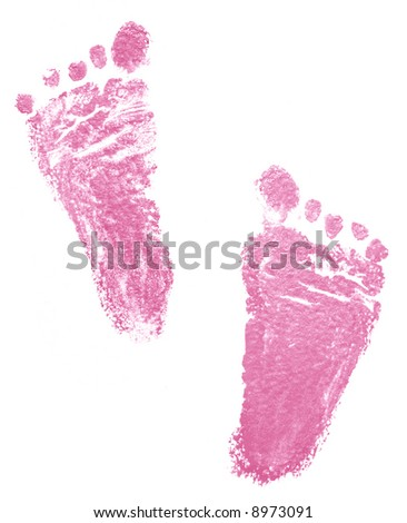 Traces of newborn (2 months) - stock photo