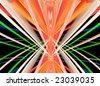 Traces of street illumination.Symmetrical montage. - stock photo