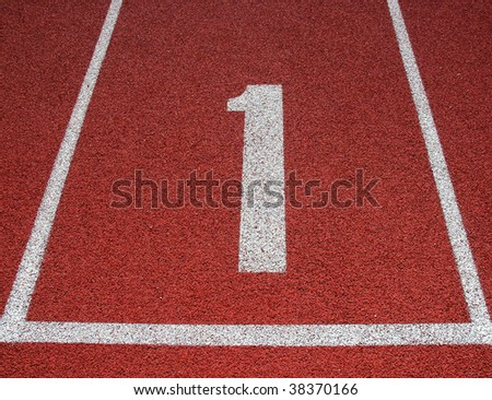 Track and field lane one
