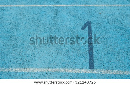 Track and field runners in the stadium.  - stock photo