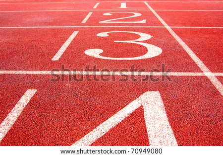 Track and field, track, red.