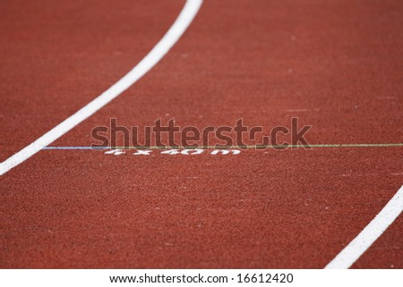 Track at athletics stadium for the repeats
