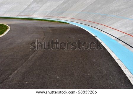 track bicycle race speed - stock photo