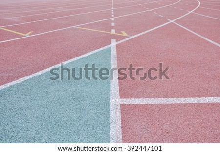 track for run - stock photo
