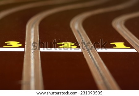 track for the toy sport cars - stock photo