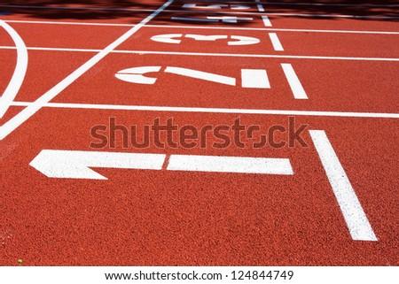 Track Lane Numbers - stock photo