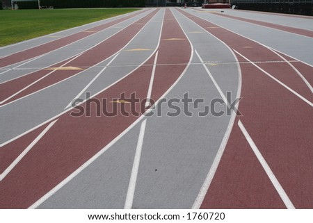 track lanes - stock photo