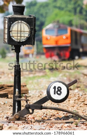 Track switch - stock photo