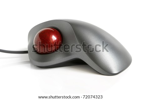 Trackball on a white background - stock photo