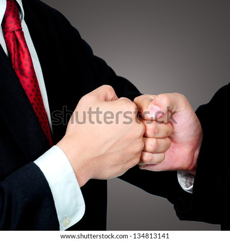 Tracking hand to hand ,closly business friends on touching for agree something with their co ordinate - stock photo