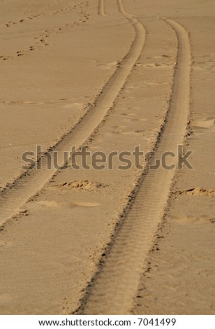 Tracks - stock photo