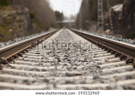 Tracks far away - stock photo