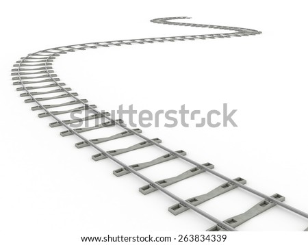 Tracks on a white background. 3  - stock photo