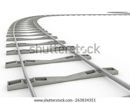 Tracks on a white background. 2  - stock photo