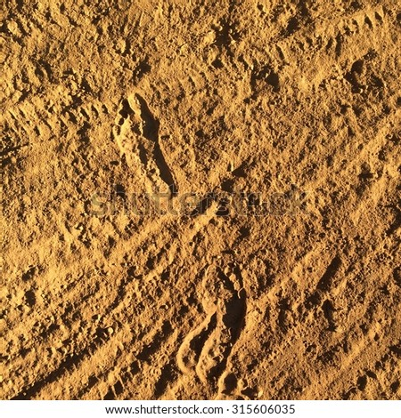 Tracks on red dirt - stock photo