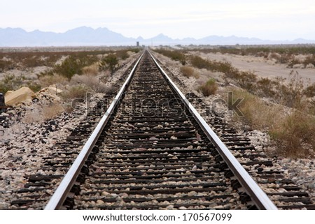 Tracks to nowhere - stock photo