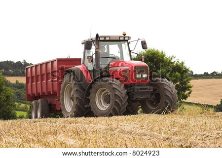 Tractor And Trailer - stock photo