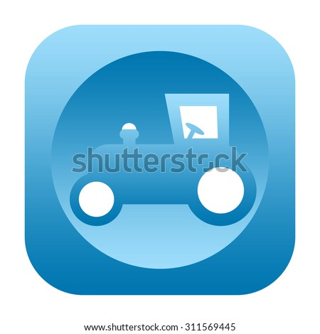 Tractor icon - stock photo