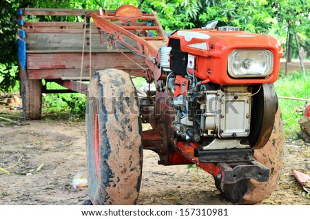 tractor in Thailand - stock photo