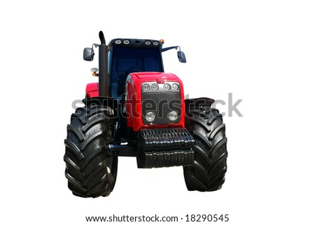 tractor isolated - stock photo