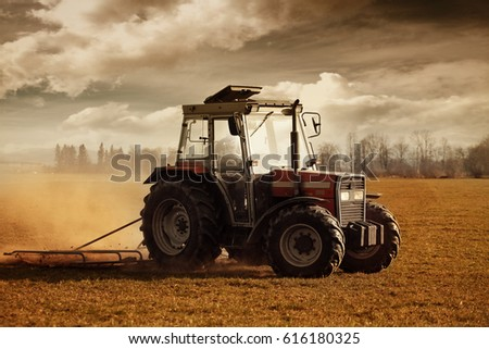 tractor on field