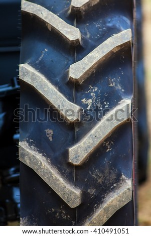 Tractor tire - stock photo