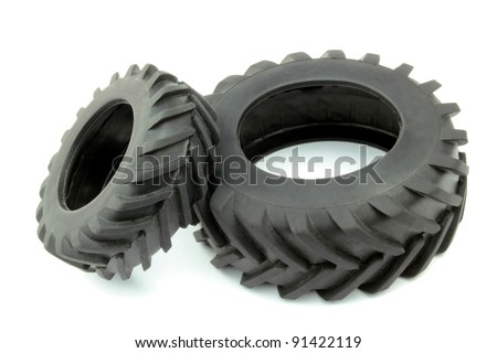 Tractor tires - stock photo