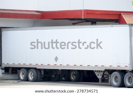 Tractor trailer - stock photo