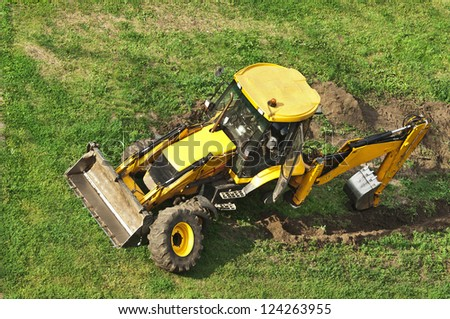 tractor without wheel - stock photo