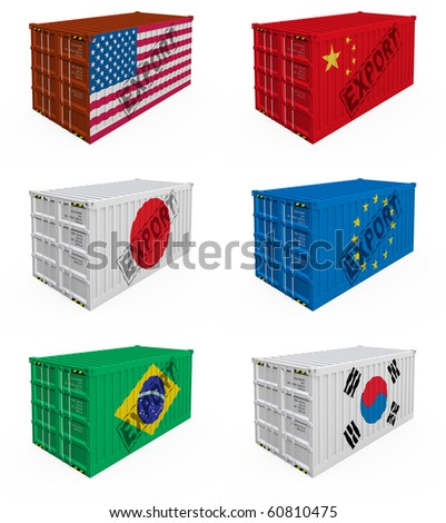 Trade containers - stock photo