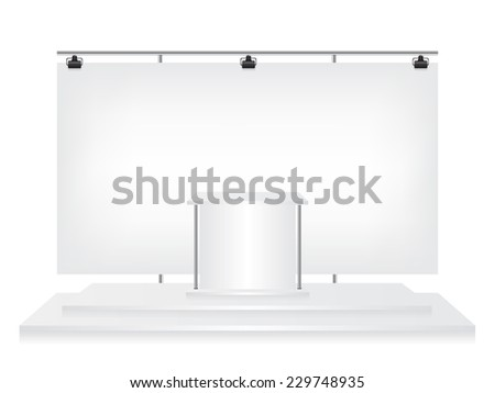 Trade exhibition stand - stock photo