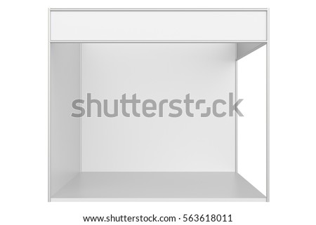 blank exhibition stand 3d rendering isolated stock illustration 560278762 shutterstock. Black Bedroom Furniture Sets. Home Design Ideas