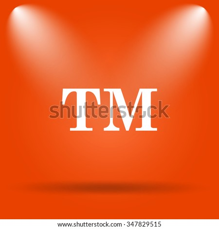 Trade mark icon. Internet button on orange background.  - stock photo
