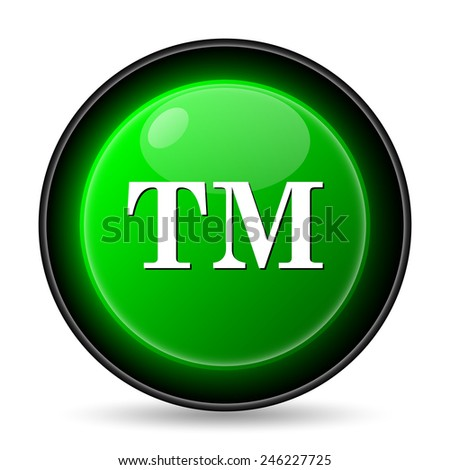 Trade mark icon. Internet button on white background.  - stock photo