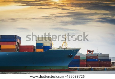 Trade Port and shipping the Container