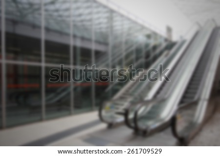 Trade show escalator background. Intentionally blurred editing post production.