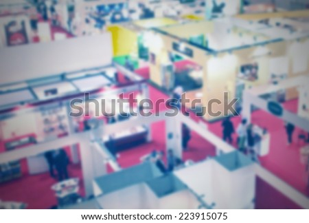Trade show panoramic view, intentionally blurred post production.