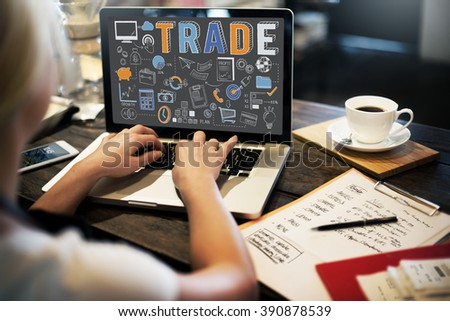 Trade Trading Commerce Deal Exchange Swap Concept - stock photo