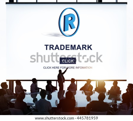 Trademark Brand Rights Protection Copyright Concept - stock photo