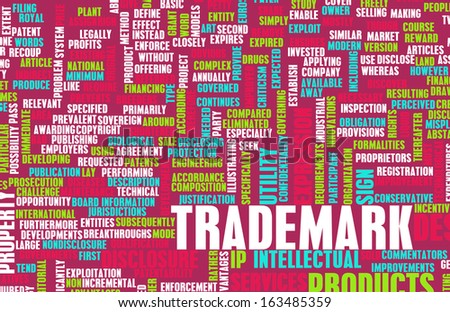 Trademark Design and Ownership Rights as Abstract - stock photo