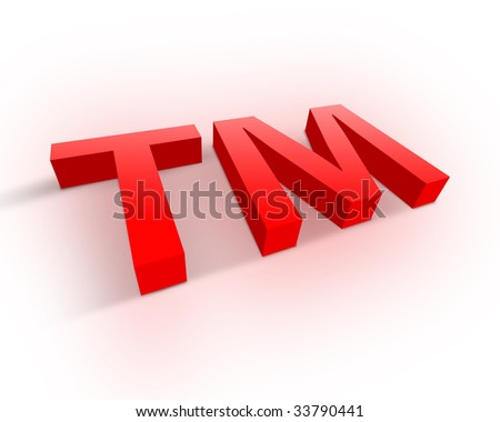 Trademark symbol - stock photo