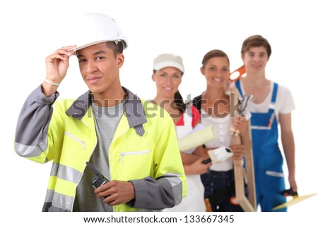 tradesperson - stock photo